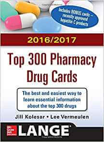Top 300 pharmacy Drug cards 2016/2017